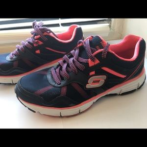Skechers Sneakers Women's Navy and Coral